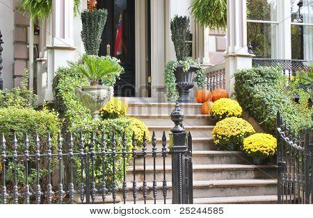 Autumn entryway