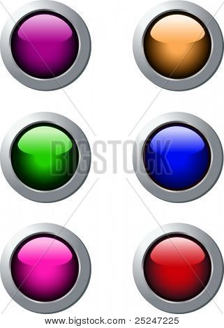 Vector Web Buttons 6 colors