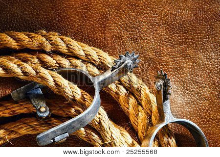 American West Rodeo Cowboy Lasso And Roping Spurs