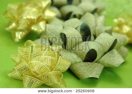 Golden Christmas Bows