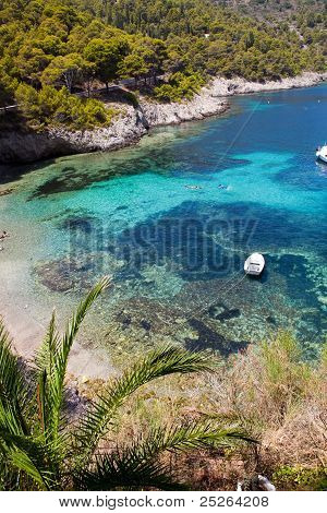 Beautiful Turquoise Water In Kefalonia
