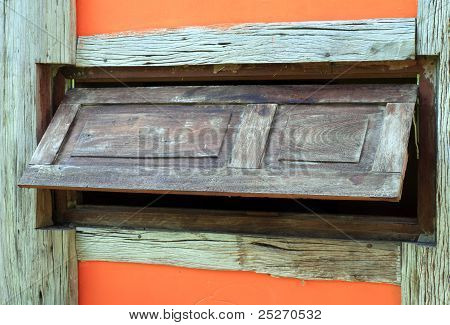 Old Wood Window , Horizontal Line