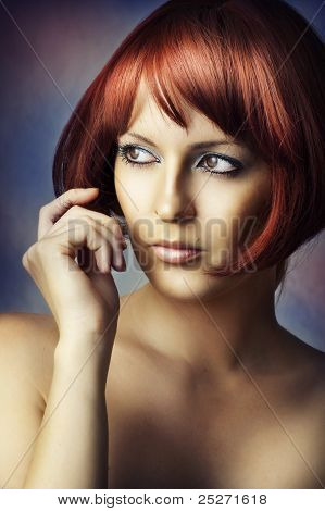 Fashion Beauty Portrait Of Glamour Woman