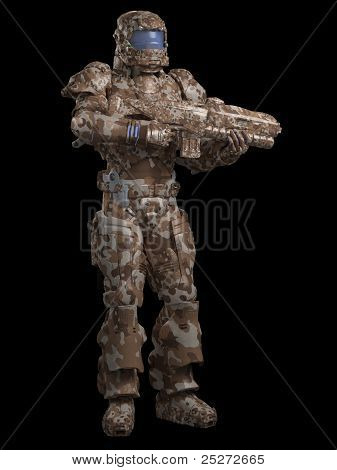 Space Marine Trooper in Desert Camo
