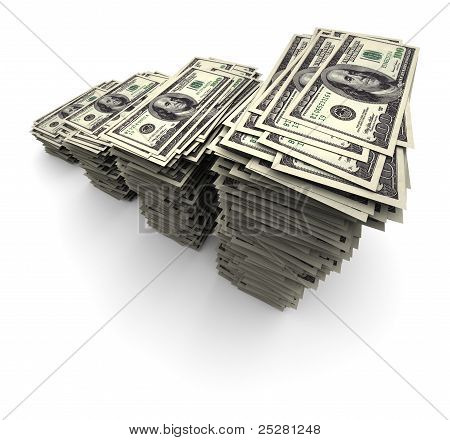 One Hundred Thousand Dollars - Bills Stack