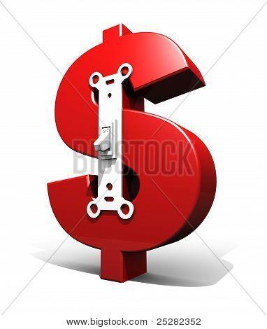 Dollar Symbol Power Switch (off)