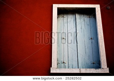 Red Wall white window dreamstime