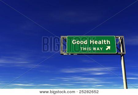 Good Health Freeway Sign