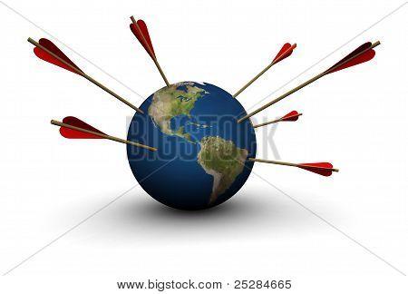 Earth Hit By Arrows