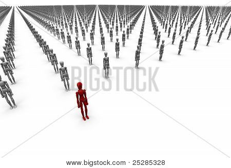 Army Of People, One Red