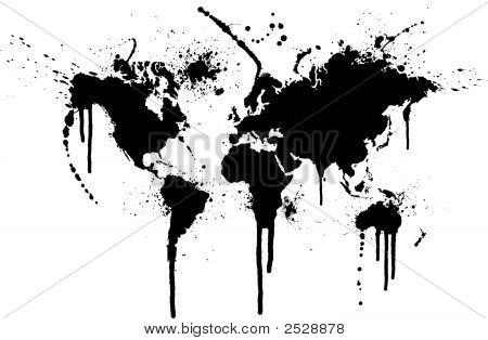 World Ink Splatter