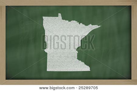 Overzicht kaart van Minnesota op Blackboard