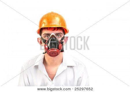 Person In Protective Mask