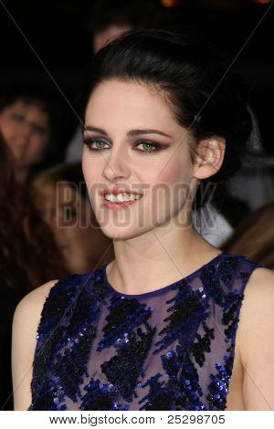 """LOS ANGELES - NOV 14:  Kristen Stewart arrives at the """"Twilight: Breaking Dawn Part 1"""" World Premiere at Nokia Theater at LA LIve on November 14, 2011 in Los Angeles, CA"""