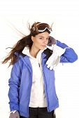 Woman Ski Jacket Hand Head