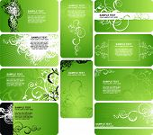 collection green businnes card