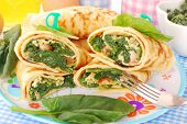 Pancakes With Spinach And Eggs