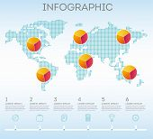 Infographic. Business Infographics. Vector Map Of The World With Elements Of Infographics. Vector Ma poster