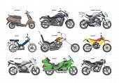 Motorcycle Vector Motorbike Or Chopper And Motoring Cycle Ride Transport Illustration Motorcycling S poster
