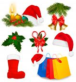 stock photo of polly  - Set of Christmas objects - JPG