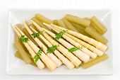 foto of butterbur  - Bamboo shoots and butterbur stalk boiled in stock - JPG