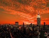 image of new york night  - The New York City midtown skyline USA - JPG