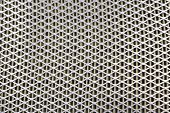 Steel Mesh. Grid Of Car Air Filter. Metal Grill Texture Of Vehicle Air Filter. poster