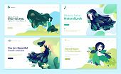Set Of Web Page Design Templates For Beauty, Spa, Wellness, Natural Products, Cosmetics, Body Care,  poster