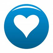Affectionate Heart Icon. Simple Illustration Of Affectionate Heart Icon For Any Design Blue poster