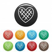 Impressionable Heart Icon. Simple Illustration Of Impressionable Heart Icons Set Color Isolated On W poster