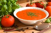stock photo of tablespoon  - Tomato soup - JPG