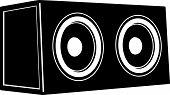 Car Audio. Subwoofer Speakers. Audio Equipment. Vector Illustration poster