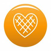 Impressionable Heart Icon. Simple Illustration Of Impressionable Heart Icon For Any Design Orange poster