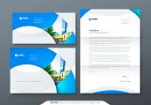 Envelope Dl, C5, Letterhead. Corporate Business Stationery Template For Envelope And Letter. poster