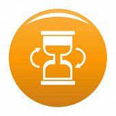 Cursor Loading Icon. Simple Illustration Of Cursor Loading Icon For Any Design Orange poster