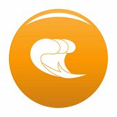Wave Surf Icon. Simple Illustration Of Wave Surf Icon For Any Design Orange poster
