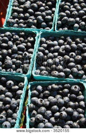 Blueberries In Blue Boxes