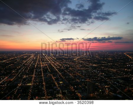 City At Night, Chicago