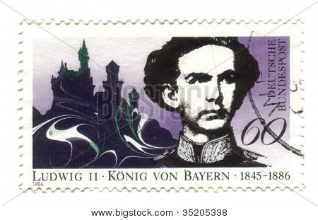 Germany - Circa 1986: A Stamp Printed In The Germany, Dedicated To Ludvig Ii, King Of Bavaria, Circa