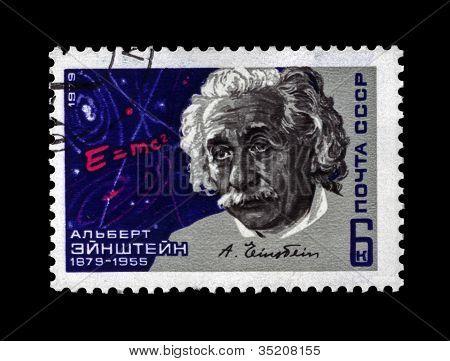 Ussr - Circa 1979: Cancelled Stamp Printed In Ussr Shows Scientist Albert Einstein, Circa 1979