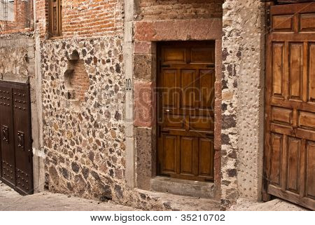 Walls And Doors On Mexican Street