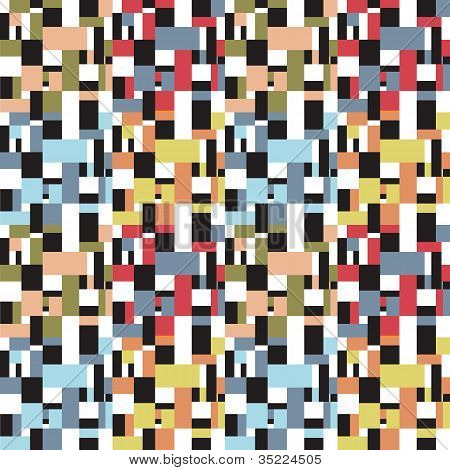 Seamless fifties retro abstract square design