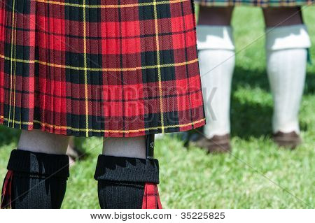 Red And Black Scottish Kilt