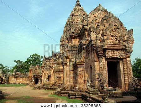 ancient khmer temple in thailand