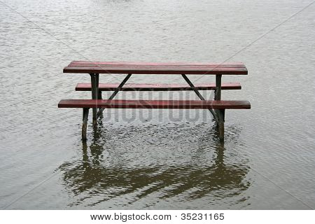Picnic Table in the Water