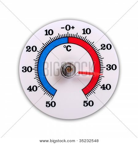 Weather Thermometer Isolated On White Background