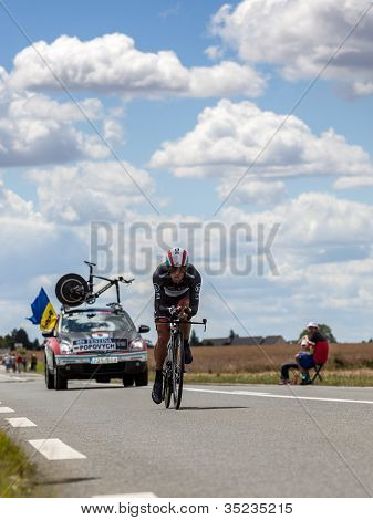 The Ukrainian Cyclist Popovych Yaroslav
