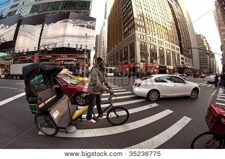Pedicab in New York