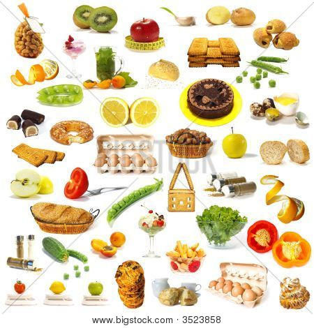 Large Page Of Food Assortment