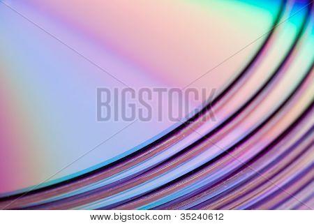 Shiny violet disks